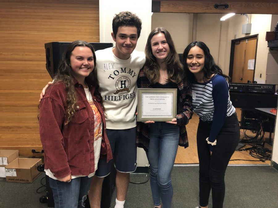 Governor Livingston H.S. receives its yearbook award.
