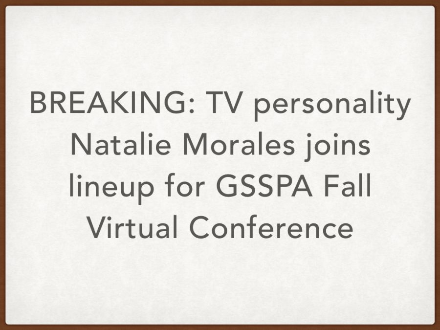 BREAKING: TV personality Natalie Morales added to lineup for GSSPA Fall Virtual Conference